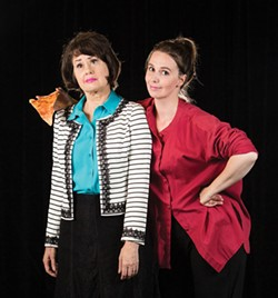 COURTESY OF NORTH COAST REPERTORY THEATRE - Gloria Montgomery and Amanda Slinkard as mismatched roomies.