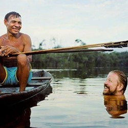 Daniel Everett and Kaabohoá, a Pirahã friend. Courtesy of Martin Schoeller