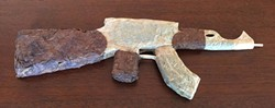 FACEBOOK - Tony Greenhand's half-pound AK-47 joint, an unwitting symbol of so many drug war failures.