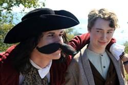 Maude Jaeb as Captain Stache, Benny Allen as Peter
