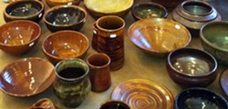 Ceramics at the Fall Arts and Artisans Fair, 2015, photo by Kellie Jo Brown
