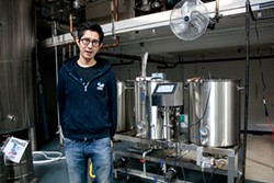 PHOTO BY CARRIE PEYTON DAHLBERG - Sunghoo Yang, co-founder of The Booth Brewing Co., says that at first, more than 90 percent of Booth's production in Eureka will be shipped to South Korea.