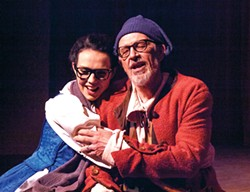 PHOTO BY DAN TUBBS - Elizabeth Hedlund and Brad Harrington as fairy-tale father and daughter Maurice and Belle.