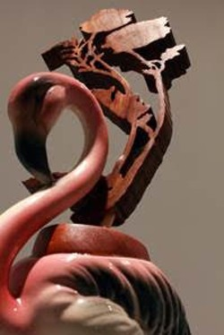 """Flamingo"" by Claire Rau, one of sculptures featured in the new exhibition ""Heirloom""."