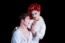 PHOTO BY EVAN WISH PHOTOGRAPHY - William English (left) and David Hamilton star in the tale of an Elvis impersonator turned drag queen.