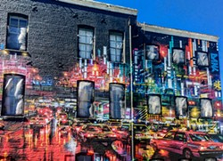 "PHOTO BY MARK LARSON - ""Electric City"" by Dan Kitchener puts a Tokyo scene in Old Town."