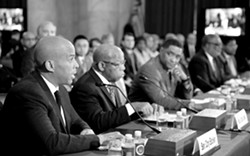 FACEBOOK - Sen. Cory Booker (far left)