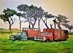 "PAUL RICKARD - ""The Venerable Trucks on Ocean Ave., McKinleyville"""