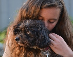 PHOTO BY EVE FREEDMAN - Emily Coriell with Molly.