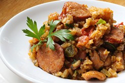 PHOTO BY ANDREA JUAREZ - Jambalaya with layers of flavor.