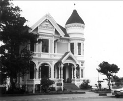 The Pink Lady at 202 M Street is an example of Victorian architecture. This photograph is from the 1950s. - Photo Credit: Humboldt County Historical Society