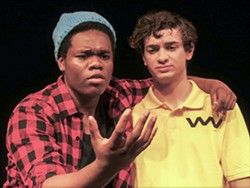 COURTESY OF HUMBOLDT STATE UNIVERSITY - All grown up: Isaiah Alexander as Van and Mickey Donovan as CB at HSU.