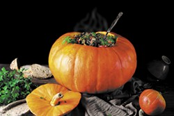 SHUTTERSTOCK - Pumpkins can turn the simplest of stews into festive centerpieces.