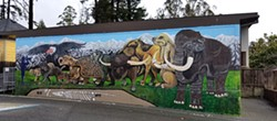 PHOTO BY GABRIELLE GOPINATH - The HSU Natural History Museum's new mural by university students is a beast.