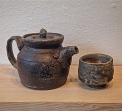 COURTESY OF THE ARTIST - Joel Diepenbrock's wood-fired teapot and cup.