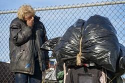 FILE PHOTO - A homeless man in Eureka.