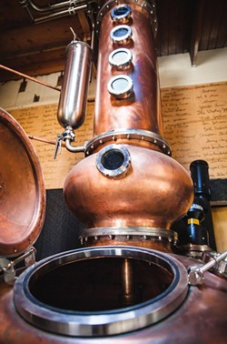 PHOTO BY DERIC MENDES - The hybrid potstill at Alchemy distillery.