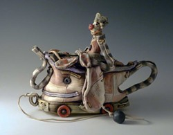 "PHOTO COURTESY OF THE ARTIST - Keith Schneider's 2014 sculpture ""Pulltoy Teapot no. 1."""