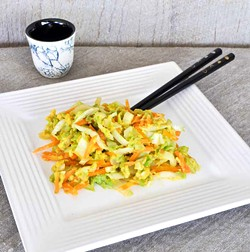 PHOTO BY SIMONA CARINI - Eggs, Napa cabbage and carrots in a quick Indonesian dish.