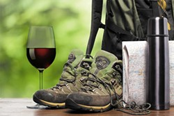PHOTOILLUSTRATION BY AMY WALDRIP - Only the necessities on the trail.