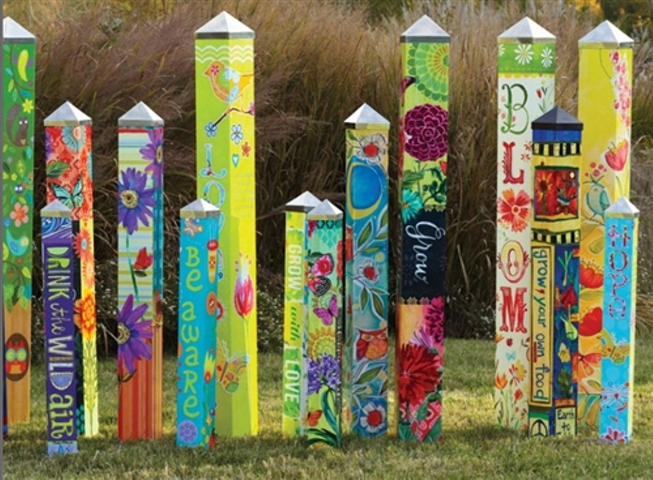 Peace Pole Revealing Arcata Community Health And
