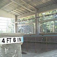 Can't Swim Under construction: The new pool at Humboldt State University. Photo by Heidi Walters.