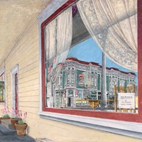 Jack Mays Artwork Victorian Inn Reflection Colored pencil drawing by Jack Mays, image courtesy of Carrie Grant
