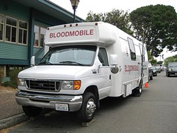 PHOTO BY JENNIFER FUMIKO CAHILL - Walk-ins welcome at the bloodmobile in Eureka.