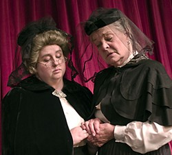 Wanda Stapp and Marilyn McCormick as dear, sweet, murderous aunts Abby and Martha in the Ferndale Rep production of Arsenic and Old Lace.