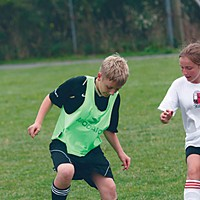 Soccer Dreams Wesley Davies performs a technical move nicely. Photo by Bob Doran