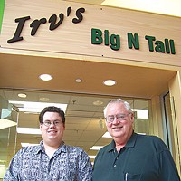 "Mall Town When the pulp mill closed, workers Mike Irvine and his son Shawn cast about for something else to do and decided to open their own business. Their shop is one of the mall's ""incubator"" businesses. Photo by Heidi Walters"