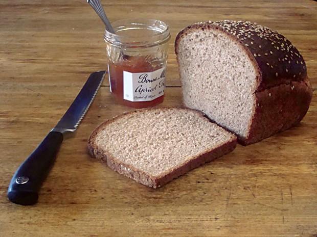 Whole wheat and jam. Photo by Darius Brotman