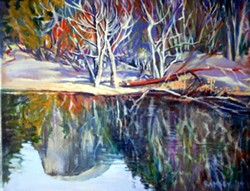 PAINTING BY JAN RAMSEY. - Winter Reflection
