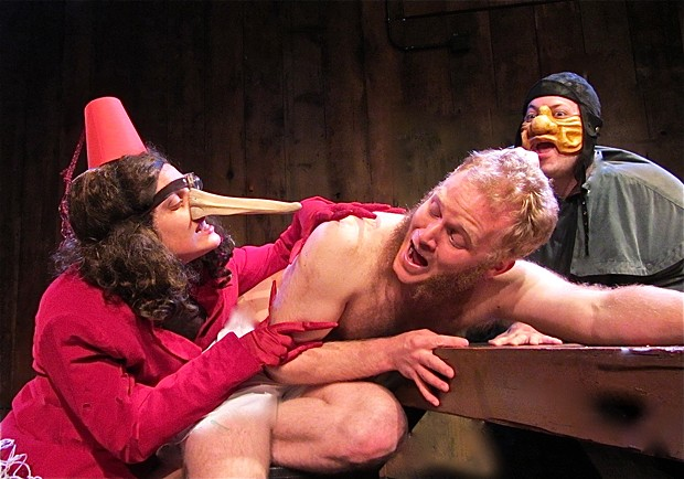 Zita Nyarady, Eric Hoffman and Brandon J. Wilson in The Most Remarkable Man of the Age. - PHOTO BY JOAN SCHIRLE