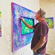 Color explosion! Tom Sage presents seven works at Ascendo Coffee