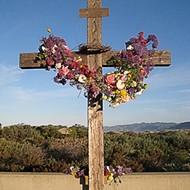 A cross burns in Arroyo Grande