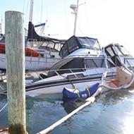 A 38-foot vessel sinks in Morro Bay marina