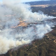 Santa Margarita wildfire destroys four structures, 1,600 acres