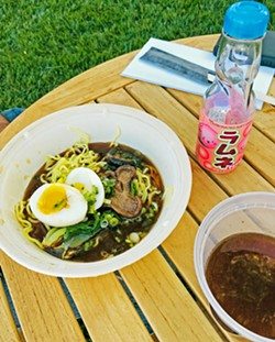 """COMFORT RAMEN The idea behind this ramen from Momotaro Ramen is """"Japanese soul food."""" Choose between four different meat or vegetarian ramen styles, add-ons, and appetizers. - PHOTOS BY BETH GIUFFRE"""