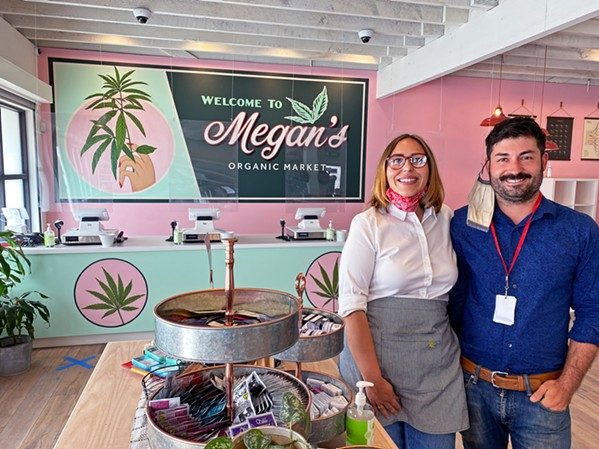 MEGAN'S MARKET Megan Souza and Eric Powers are the proud owners of the first dispensary in the city of San Luis Obispo. - PHOTO BY KAREN GARCIA