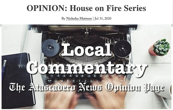 VIEWPOINTS Atascadero community members are raising concerns about a recent opinion column in the Atascadero News that connected increased COVID-19 cases to protests and had an alleged reference to the QAnon conspiracy theory. - SCREENSHOT COURTESY OF THE ATASCADERO NEWS