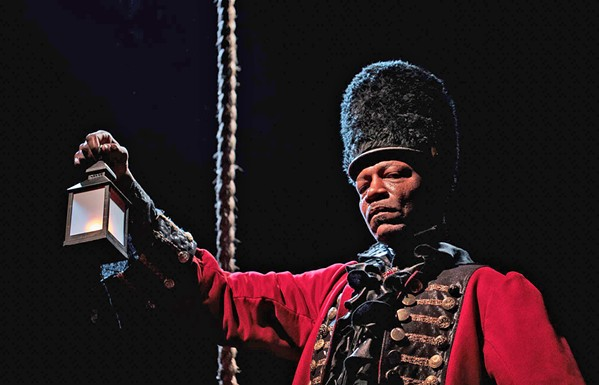 ON HOLD While original productions, like 2019's award-winning Ghost Ship (featuring cast member Jimmy Thornton, pictured), will not be on the stage this year, the Cuesta College drama program switched to a new medium: podcasting. - FILE PHOTO COURTESY OF CASEY WIEBER