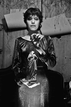 TERESA COVARRUBIAS, 1982 Chicana and Brat punk band vocalist Teresa Covarrubias, as photographed by Sean Carillo in 1982. - PHOTOS COURTESY OF STUDIOS ON THE PARK