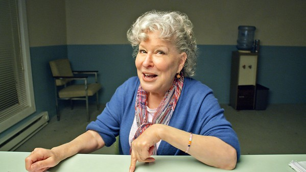 THE NEW ABNORMAL Miriam Nessler (Bette Midler) is one of five characters who offers a monologue confession under quarantine, talking about her life in our current political climate, in HBO's comedy TV special Coastal Elites. - PHOTO COURTESY OF DELIRIO MEDIA