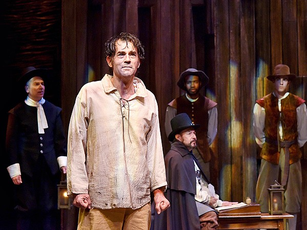 HISTORICAL HYSTERIA Andrew Philpot (pictured here as John Proctor in PCPA's 2018 production of The Crucible), will read as Jaxton during PCPA's upcoming InterPlay reading of The Thanksgiving Play. - PHOTOS COURTESY OF LUIS ESCOBAR REFLECTIONS PHOTOGRAPHY STUDIO