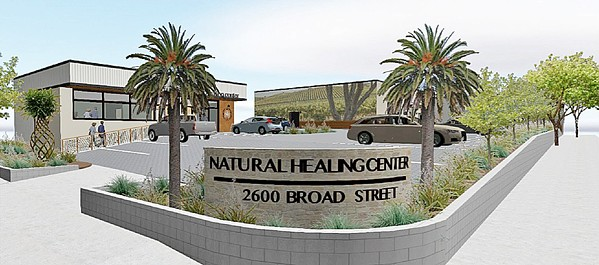 LEGAL FIGHT A top investor in the Natural Healing Center cannabis brand, which has plans to open new dispensaries in SLO (rendered here) and Morro Bay, is suing its founder over alleged misconduct. - FILE IMAGE COURTESY OF THE CITY OF SAN LUIS OBISPO