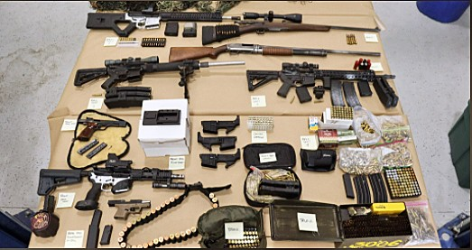 GANGS The SLO County Sheriff's Office served a search warrant on white supremacist gang member Christopher Straub's residence discovered he was manufacturing guns illegaly. - PHOTO COURTESY OF THE SLO COUNTY SHERIFF'S OFFICE