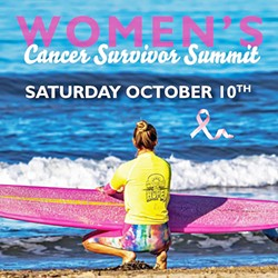 CELEBRATING SURVIVORS Surfing for Hope Foundation is holding its first Women's Cancer Survivor Camp in Pismo Beach on Oct. 10 for women currently undergoing treatment or who have completed cancer treatment. - IMAGE COURTESY OF SURFING FOR HOPE