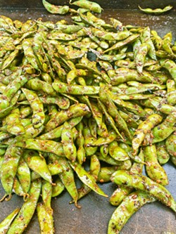 STREET FOOD Hawker's on the loose in SLO, rolling Asian-style fusion such as spicy garlic edamame out of the take-out window at Benny's Kitchen and at breweries such as Liquid Gravity, pop-up style. - PHOTO COURTESY OF JOHN MERCURIO