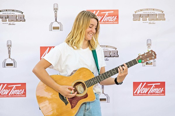 """YOUTH Kathryn Callarman, at just 15 years old, delivered a terrific song in """"What We Can't Obtain,"""" a song about perseverance. - PHOTO BY JAYSON MELLOM"""